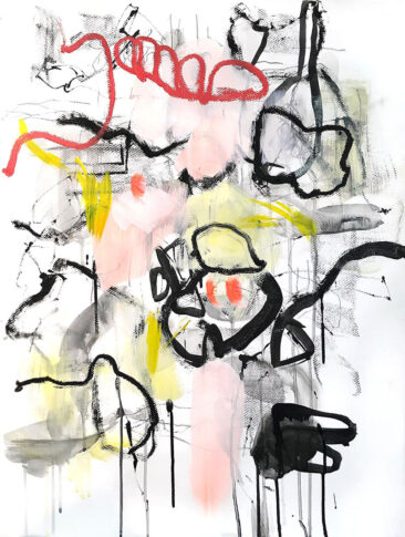Grey Red, mix media, Helena Halvarsson