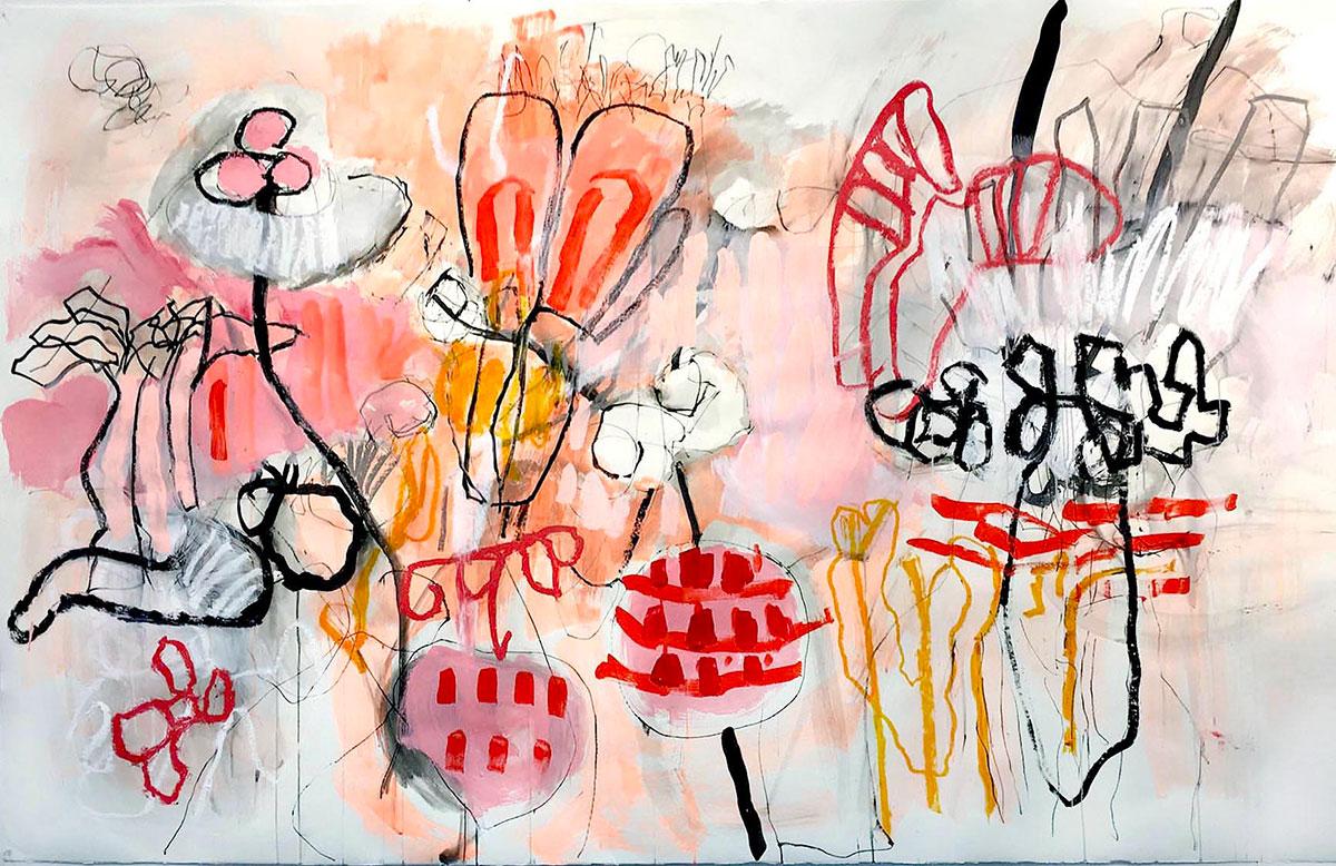 Mix media on paper 1, Helena Halvarsson, 2016,