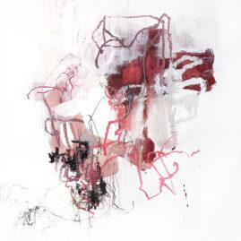 RedPink 1, Mix media, Helena Halvarsson